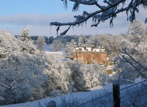 Sorn castle in the snow