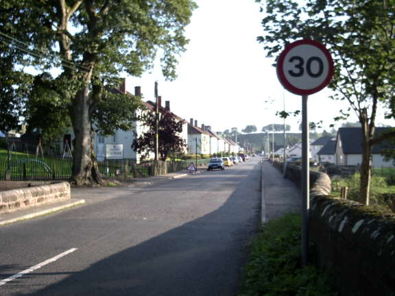 Entering the village at Mauchline Road